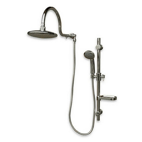 PULSE ShowerSpas AquaRain 1019-BN Brushed-Nickel Shower System - Cloud 9 Shower Heads