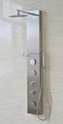 Valore Full Install Stainless Steel VS-2001 Shower Panel with Rain Shower Head - Cloud 9 Shower Heads