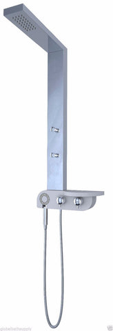Nezza 4-Jet Bali Chrome Rain Shower Panel NPA-015-001-CH - Cloud 9 Shower Heads