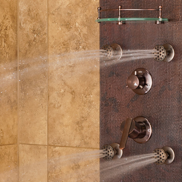 Charmant ... PULSE ShowerSpas Navajo ShowerSpa 1018 Hammered Copper ORB Shower Panel  ...