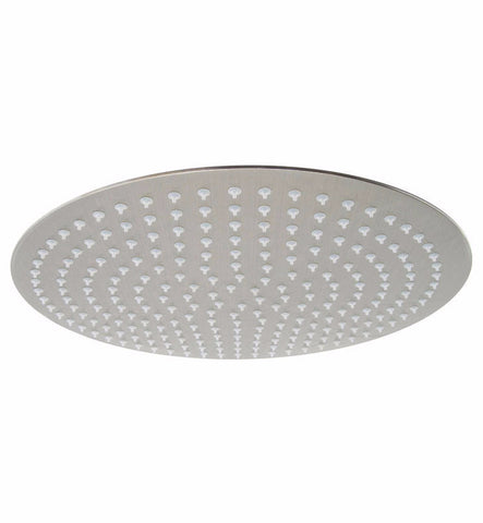 "ALFI brand RAIN16R-BSS Solid Brushed Stainless Steel 16"" Round Ultra Thin Rain Shower Head - Cloud 9 Shower Heads"