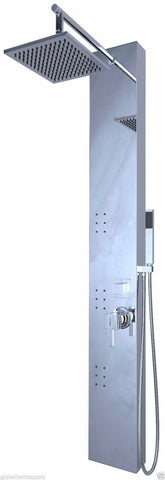 Nezza 3-Jet Rex Chrome Rain Shower Panel NPA-006-001-BN - Cloud 9 Shower Heads