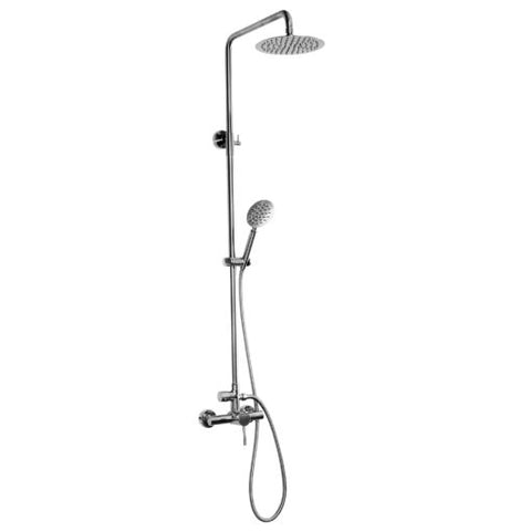 "Outdoor Shower Co. DVA-L2-WMHC - 8"" Shower Head, Single Lever Handle, Stainless Steel, Hand Spray"