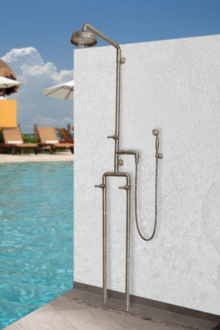 "SONOMA FORGE WB-SHW-1050 EXPOSED OUTDOOR SHOWERS UNIT W/ 8"" RAIN HEAD AND HANDSHOWER"