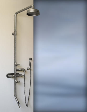"Sonoma Forge WB-SHW-880 Exposed Outdoor Shower Unit  W/ 8"" Rain Head, Hand Shower & Tub Filler"