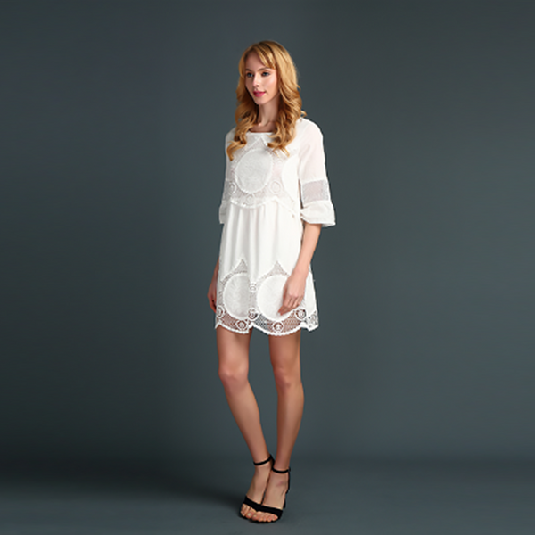 White Charm Mini dress