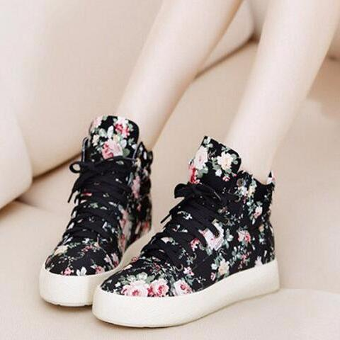 Sweet Flowers Platform Shoes