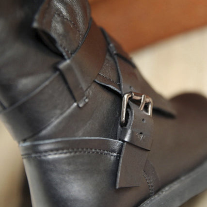 Belt Buckle Casual Knight Boots - AmeiThings