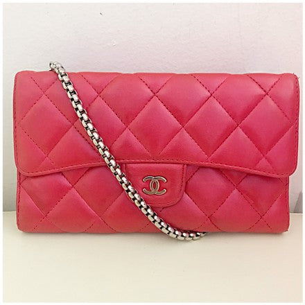 Chanel Classic Flap Woc Red Cross Body Bag - AmeiThings