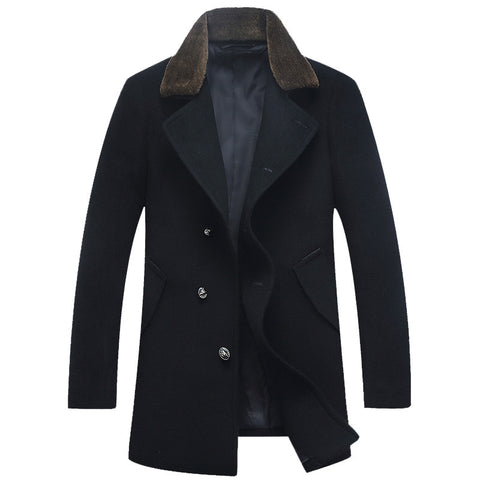 Goal Oriented Business Woolen Coat