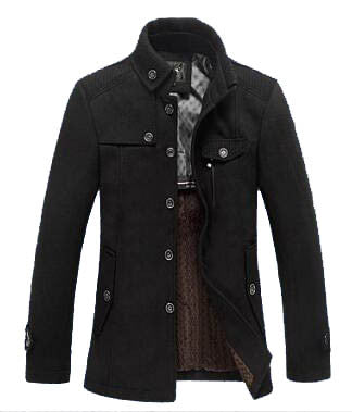 Business male woolen coat