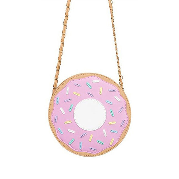 2017 Funny fashion Three-dimensional donuts style messenger bag chain bag soft small harajuku handbag - AmeiThings