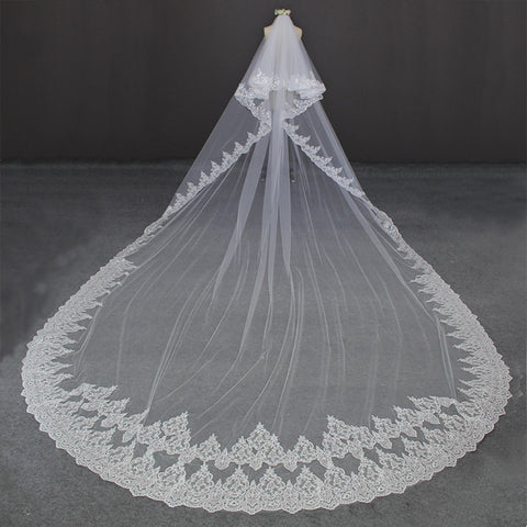 Luxury Love Long Wedding Veil
