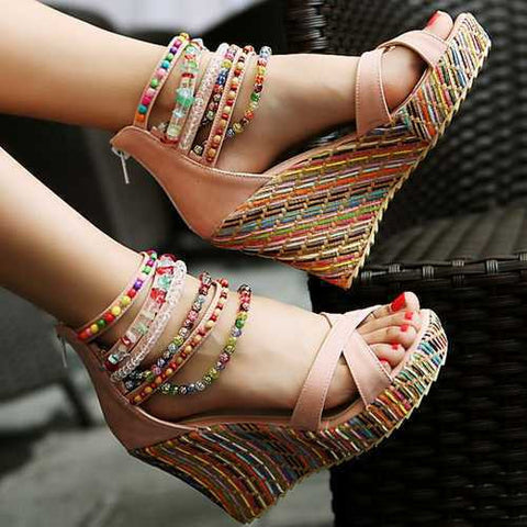 Boho The Way Platform Sandals - AmeiThings