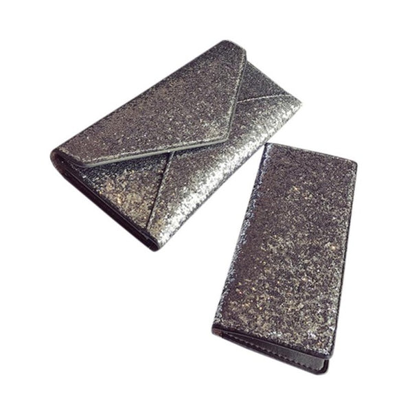 2PCS Sequins Wallet Clutch Card Holder - AmeiThings