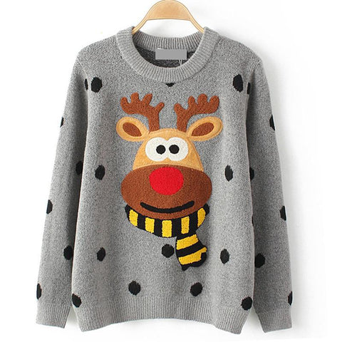 Reindeer Rudolf in a Soft Plush Sweater - AmeiThings
