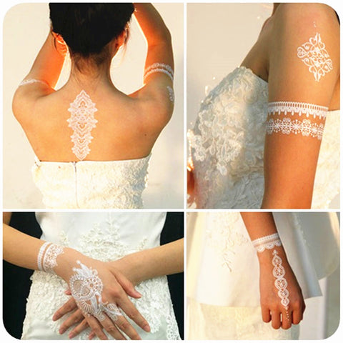 Kissed Skin Bridal Tattoo
