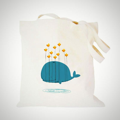 Well Well Whale Cotton Bag