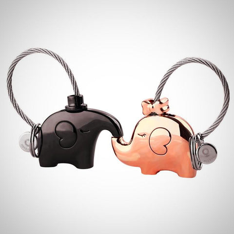 Elephant Lovers Keychain - AmeiThings