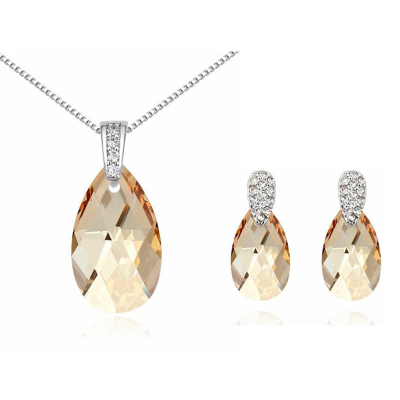 Swarovski Drops Necklace and Earrings Set