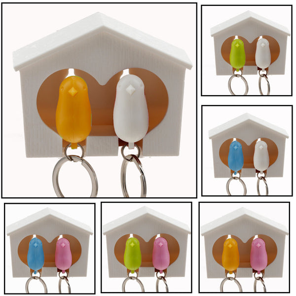 Bird House Keychain - AmeiThings