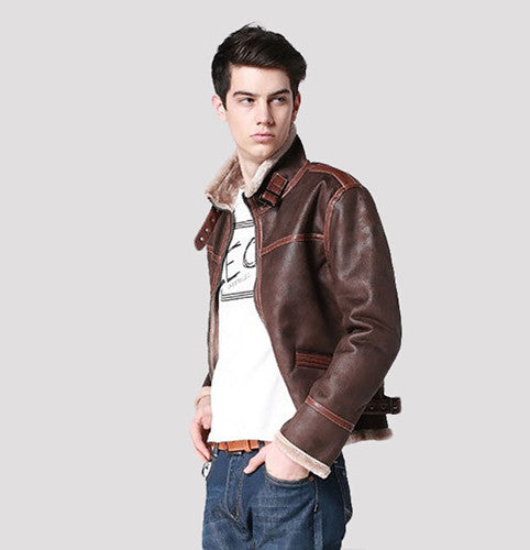 High Quality Resident Evil 4 Leon Kennedy Leather Jacket new