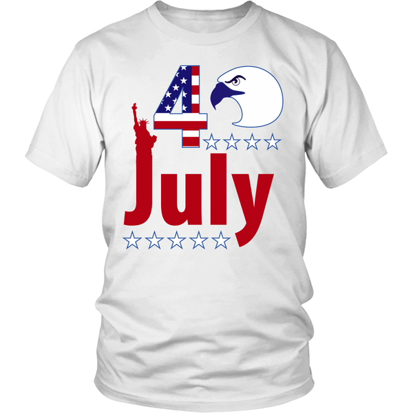 4th of july model 3 - District Unisex Shirt - AmeiThings