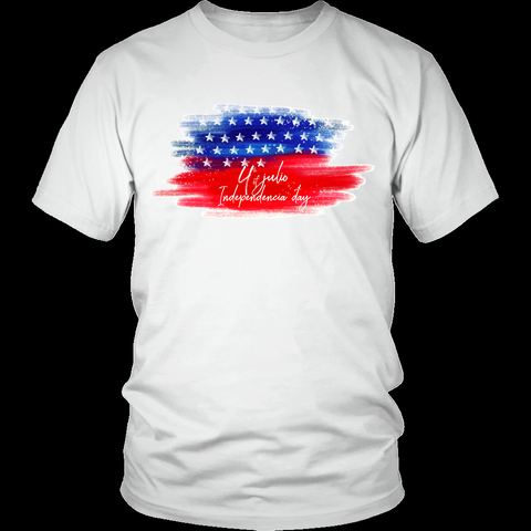 4th of july model 4 - District Unisex Shirt - AmeiThings
