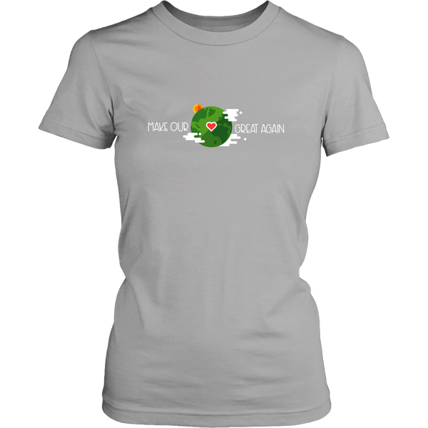 Make our planet great again model 4 - District Womens Shirt