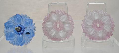 3 Vintage Glass Rosette curtain tie back