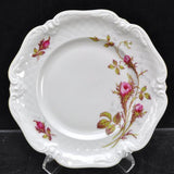4 Royal Heidelberg Winterling Rose Brier Embossed Scroll Porcelain Bread Plates