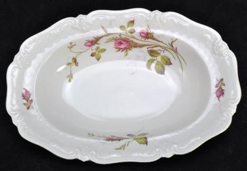Royal Heidelberg Winterling Rose Brier Embossed Scroll Porcelain Oval Vegetable