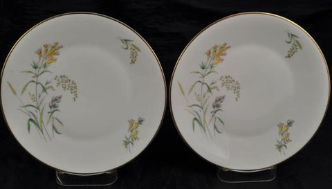 Pair of Salad Plate(s) Rosenthal Summer Blossoms Bettina 3179 White Gold Trim