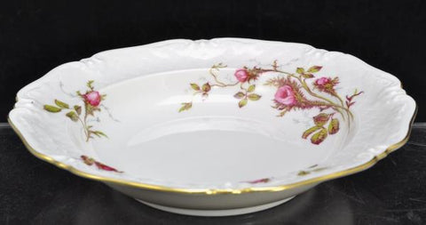 2 Royal Heidelberg Winterling Rose Brier Embossed Scroll Porcelain Soup Bowls