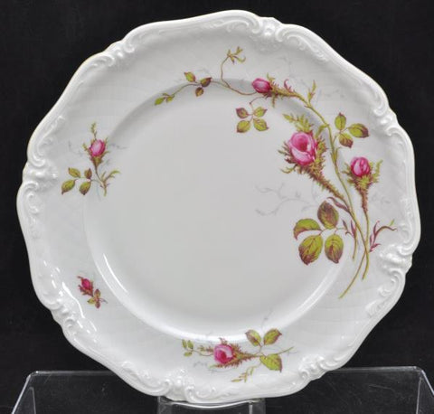 4 Royal Heidelberg Winterling Rose Brier Embossed Scroll Porcelain Dinner Plates