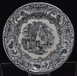 "George Jones and Son ""Abbey 1790"" Black Transfer Plate 1902"