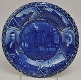 Longfellow Rowand & Marsellus Blue Staffordshire Rolled Edge Plate