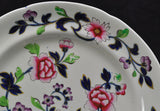 Pair of Antique Ironstone Basket of Flowers Plates 19th Century