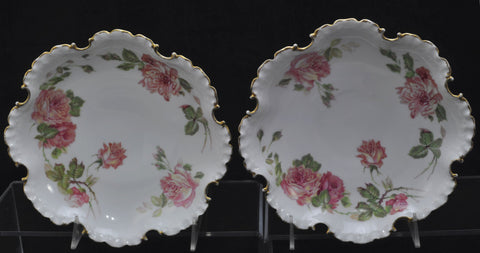 Pair of Ronsenthal Monbijou Cabbage Rose Comports