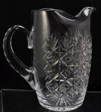Tudor Wellington Cut Crystal Water Pitcher Jug