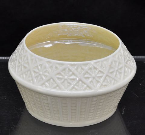 Antique Irish Belleek Cleary Sugar Bowl 3rd Black Mark