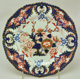 Antique Bloor Derby Porcelain Kings Pattern Cobalt and Gold Dinner Plate 1825