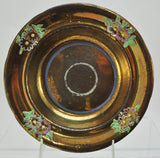 Rare Large Antique Copper Lustre Soup Bowl Floral Decoration 19th Century