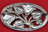 Vintage Coro Sterling Silver Brooch Pin