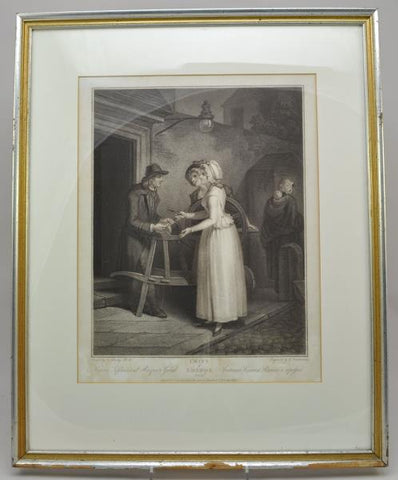 "Original Stipple Engraving Wheatley ""Knives to Grind"" Cries of London 1795"