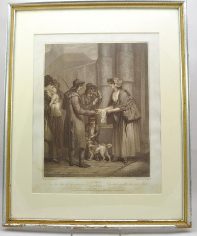 "Original Stipple Engraving Wheatley ""A New Love Song"" Cries of London 1796"