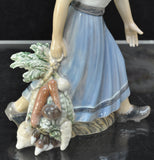 Dahl Jensen Girl with Vegetables 1301 Figurine MINT