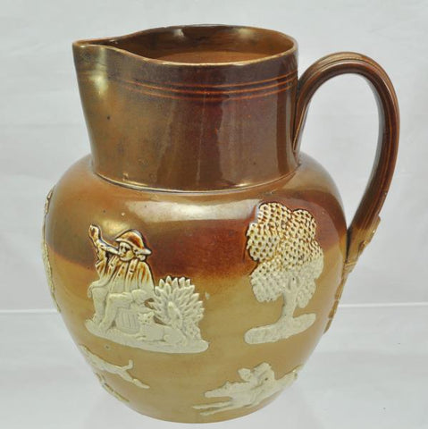 Antique Royal Doulton John Broad 6 1/2 Inch Stoneware Pitcher circa 1900