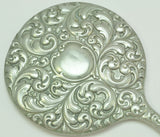 Antique Scrollwork Silver Plate Hand Mirror EPN 19th Century