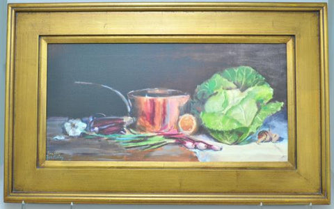 """Still Life with Copper Pot"" Original Pat Forsberby Oil Painting 2008"